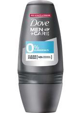 Dove MEN+CARE Körperpflege Deo Roll-On 0% Clean Fresh ohne Aluminiumsalze Deodorant 50.0 ml