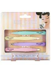 INVOGUE Produkte Eye Candy - Gold Combo Tweezer Set - Pastels Augenpflege 1.0 pieces