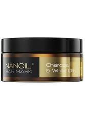 Nanoil Haarpflege Charcoal & White Clay Hair Mask Haarpflege 300.0 ml