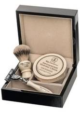 Taylor of Old Bond Street Sandalwood Super Lacquered Wooden Gift Box Best Badger 2 Rasierset