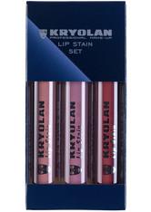 KRYOLAN - Kryolan Lippenstift Kryolan Lippenstift Lip Stain Set Make-up Set 12.0 ml - Makeup Sets