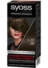 Syoss Permanente Coloration Professionelle Grauabdeckung Paris Brown Haarfarbe 115 ml