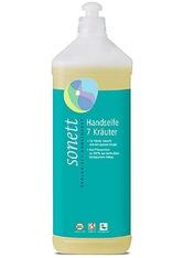 SONETT - Sonett Produkte Handseife - 7 Kräuter Nachfüllflasche 1000ml Flüssigseife 1.0 l - SEIFE