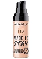 Misslyn Teint Make-up Made To Stay Water-Resistant Foundation Nr. 110 Light Rosy Nude 25 ml