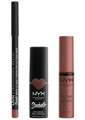 NYX Professional Makeup Suéde Matte Lips Never Lie Lippen Make-up Set 1 Stk Nude