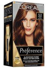 L'Oréal Paris Préférence 5.3 Helles Goldbraun (Virginia) Coloration 1 Stk. Haarfarbe