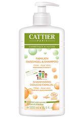 Cattier Körperpflege Hirse + Aloe Vera Familien Duschgel + Shampoo Duschgel 500.0 ml