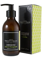 EDWIN JAGGER Produkte Conditioning Beard & Moustache Wash, Limes & Pomegranate Bartpflege 200.0 ml
