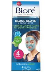 Bioré Blaue Agave/Backpulver Blaue Agave + Backpulver Tonerde Wärme-Maske Maske 4.0 pieces