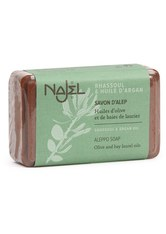 Najel Produkte Aleppo-Seife - Rhassoul & Arganöl 100g Stückseife 100.0 g