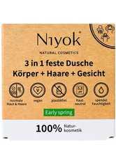 Niyok Produkte 3in1 feste Dusche Körper+Haare+Gesicht - Early spring 80g Duschgel 80.0 g