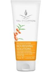 Tautropfen Sanddorn Nourishing Solutions Feuchtigkeitsspendende Handcreme für trockene Haut 75 ml