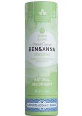 BEN & ANNA - Ben & Anna Produkte Ben & Anna Produkte Lemon & Lime - Sensitive Deo Stick 60g Deodorant Stift 60.0 g - Roll-On Deo