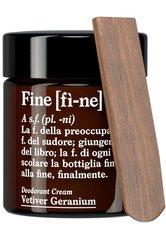 FINE - fì-ne Produkte Deodorant Vetiver Geranium 30ml Deodorant Creme 30.0 g - ROLL-ON DEO