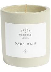 BJÖRK & BERRIES - Björk & Berries Produkte Dark Rain Scented Candle Kerze 200.0 g - PARFUM