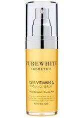 PURE WHITE COSMETICS - Pure White Cosmetics Gesichtspflege Pure White Cosmetics Gesichtspflege 15 % Vitamin C Radiance Serum Feuchtigkeitsserum 30.0 ml - Serum