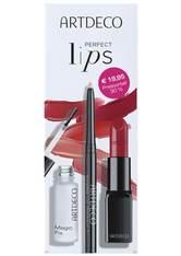 ARTDECO - ARTDECO Sets Perfect Color Lipstick & Magic Fix & Invisible Lip Contour Set 3 Stück - Makeup Sets