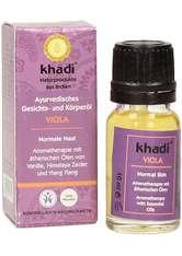 KHADI - Khadi Naturkosmetik Produkte Gesicht & Körper - Viola Öl Kleingröße 10ml Gesichtsöl 10.0 ml - KÖRPERCREME & ÖLE