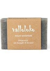 Valloloko Mount Winterbold Kampfer, Geranie & schwarze Tonerde Stückseife  100 g