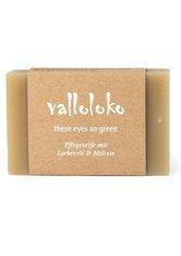 Valloloko These Eyes So Green Lorbeeröl & Melisse Stückseife  100 g