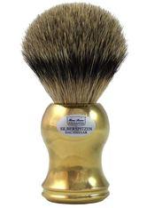 HANS BAIER EXCLUSIVE - Hans Baier Exclusive Produkte Dachshaar Silberspitz Rasierpinsel Gold Metall Rasierpinsel 1.0 st - RASIER TOOLS