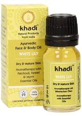 KHADI - Khadi Naturkosmetik Produkte Gesicht & Körper - White Lily Öl Kleingröße 10ml Gesichtsöl 10.0 ml - KÖRPERCREME & ÖLE
