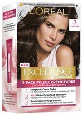 L'Oréal Paris Excellence Crème 3 Dunkelbraun Coloration 1 Stk. Haarfarbe
