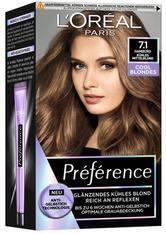 L'Oréal Paris Préférence Cool Blondes 7.1 Kühles Mittelblond (Hamburg) Coloration 1 Stk. Haarfarbe