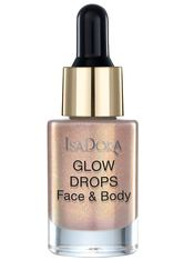 Isadora Bronzing Make-up Glow Drops Face & Body Golden Edition Highlighter 15.0 ml