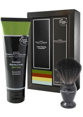 EDWIN JAGGER Produkte Boxed Gift Set Rasierpinsel Black Fibre & Rasiercreme Aloe Vera Rasierset 1.0 pieces