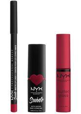 NYX Professional Makeup Suéde Matte Lips Never Lie Lippen Make-up Set 1 Stk Red