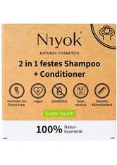 Niyok Produkte 2in1 festes Shampoo+Conditioner - Green touch 80g Haarshampoo 80.0 g