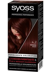 Syoss Permanente Coloration Professionelle Grauabdeckung Mahagoni Haarfarbe 115 ml