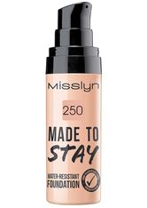 MISSLYN - Misslyn Teint Make-up Made To Stay Water-Resistant Foundation Nr. 250 True Beige 25 ml - FOUNDATION