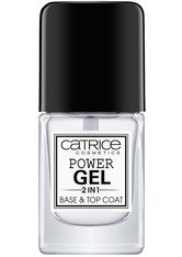 CATRICE - Catrice Nagellack Catrice Nagellack Power Gel 2in1 Base & Top Coat Nagelueberlack 10.5 ml - Base & Top Coat