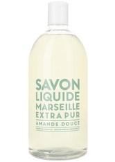 La Compagnie de Provence Savon Liquide Marseille Extra Pur Amande Douce - Refill Flüssigseife  1 L