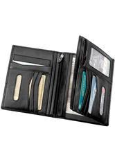 HANS KNIEBES - Hans Kniebes HK-Style Geldbörsen & Schlüsseletuis Brieftasche, Amalfi-Vollrindleder, 115 x 165 mm schwarz 1 Stk. - NÄGEL-TOOLS