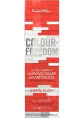 COLOUR-FREEDOM - Colour Freedom Haare Haarfarbe Ultra Vibrant Non-Permanent Hair Colour Coral Blush 150 ml - HAARFARBE