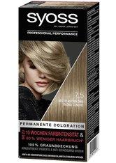 Syoss Permanente Coloration Professionelle Grauabdeckung Mittelaschblond Haarfarbe 115 ml