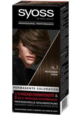 Syoss Permanente Coloration Professionelle Grauabdeckung Mittelbraun Haarfarbe 115 ml