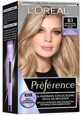 L'Oréal Paris Préférence Cool Blondes 8.1 Helles kühles Blond (Kopenhagen) Coloration 1 Stk. Haarfarbe