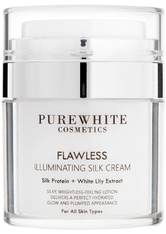 Pure White Cosmetics Gesichtspflege Flawless Illuminating Silk Cream Gesichtscreme 50.0 ml