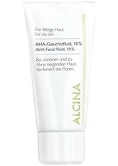 ALCINA - ALCINA Fettige bis Mischhaut AHA-Gesichtsfluid 10% Gesichtsfluid  50 ml - TAGESPFLEGE