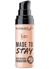 MISSLYN - Misslyn Teint Make-up Made To Stay Water-Resistant Foundation Nr. 140 Tawny 25 ml - FOUNDATION