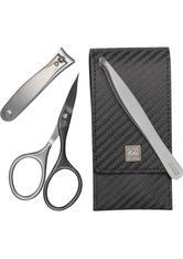 Becker Manicure Erbe Manicure Etuis Taschenetui Carbon MAN, 3-teilig Schwarz 1 Stk.