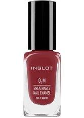 Inglot Nagellack O2M Soft Matte Atmungsaktiver Nagellack Nagellack 11.0 ml