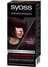 Syoss Permanente Coloration Professionelle Grauabdeckung Dunkelviolett Haarfarbe 115 ml