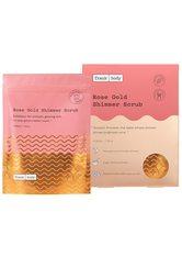 Frank Body Reinigung Rose Gold Shimmer Scrub Körperpflege 220.0 g