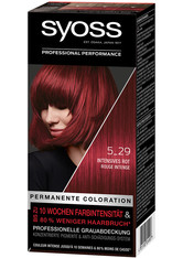 Syoss Permanente Coloration Professionelle Grauabdeckung Intensives Rot Haarfarbe 115 ml