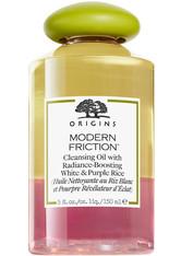 Origins Modern Friction Cleansing Oil with Radiance-Boosting White & Purple Rice 150 ml Reinigungsöl
